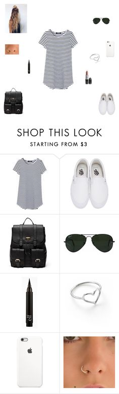 """back to school outfit #2"" by synclairel ❤ liked on Polyvore featuring Vans, Sole Society, Ray-Ban, Jordan Askill, Summer, cute, casual and ootd"