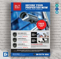 This CCTV Camera Store Flyer Design has been develop to boost your marketing campaign. Promo Flyer, Computer Repair Services, Camera Store, Cctv Surveillance, System Camera, Marketing Opportunities, Dome Camera, Security Camera