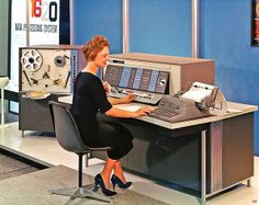 Mid-century technology filled office perfection. #vintage #1950s #office