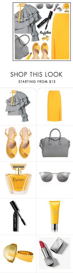 """""""ruffles"""" by sandevapetq on Polyvore featuring Rosie Assoulin, Altuzarra, SPECIAL DAY, Givenchy, Lancôme, Prada, Bobbi Brown Cosmetics, Molton Brown and Burberry"""
