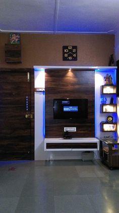 Here you will find photos of interior design ideas. Get inspired! Tv Unit Decor, Tv Wall Decor, Living Room Tv Unit Designs, Interior Design Living Room, Tv Cupboard Design, Lcd Wall Design, Tv Unit Furniture Design, Interiores Art Deco, Home Entrance Decor