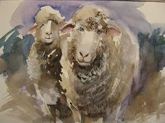 Nature in Watercolor: Back to Sheep