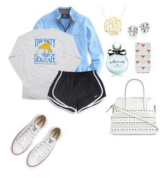 """""""Untitled #138"""" by penguinfan911 ❤ liked on Polyvore featuring moda, Hanes, NIKE, Converse, Kate Spade, Tory Burch y OTM"""