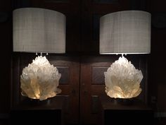 Rock Crystal lamp 34 kg, each, design and build by Demian Quincke.