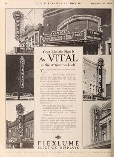 From Exhibitors Herald World, September 28, 1929 #cinema #movietheater #theatretalks #marquee
