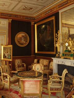 Pierre Felix Cottrau - The Salon of Hortense de Beauharnais In the morning, no visitors were admitted. Hortense and Ad.