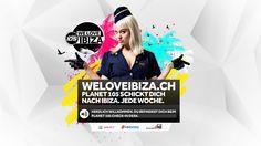 Planet 105 - WE LOVE IBIZA Kampagne - Konzept, Keyvisual, Webdesign - www.resign-webagentur.ch/105-we-love-ibiza/