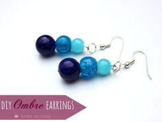 Rings Selber Machen Easy Ombre Earrings - Lines Across Simple Earrings, Diy Earrings, Opening An Etsy Shop, Diy Ombre, Earring Tutorial, Imitation Jewelry, Homemade Jewelry, Jewelry Crafts, Jewelry Ideas