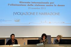 Convegno (Viol)azione e narrazione - 25 novembre 2015 - Serena Dandini, Elena Bigotti, Silvia Giorcelli