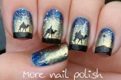 More Nail Polish: Three Wise Men nail art