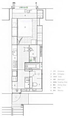 해외는 원룸을 어떻게 꾸밀까? 40제곱미터(12평) 이하의 스튜디오(원룸) 인테리어 모음 - 문화가 있는 집, phm ZINE Diagram, Floor Plans, Floor Plan Drawing, House Floor Plans
