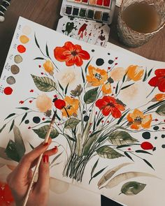 "Tanja von Die Handletterei on Instagram: ""#floralillustration #watercolorflorals ✨🌷 . . . #watercolor #watercolorillustration #watercolor_art #watercolor_blog #watercolor_daily…"""