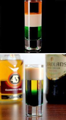 Irish Flag Shooter | St Patricks Day Cocktails