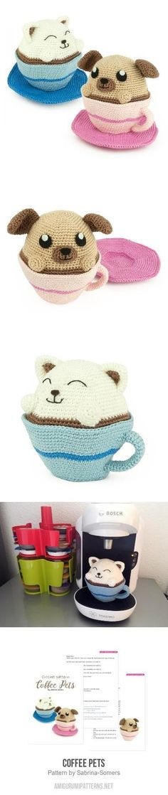 Coffee Pets Amigurumi Pattern