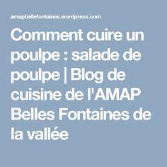 Comment cuire un poulpe : salade de poulpe | Blog de cuisine de l'AMAP Belles Fontaines de la vallée