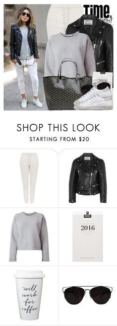 2218. Blogger Style: Sincerely, Jules by chocolatepumma on Polyvore featuring moda, T By Alexander Wang, Acne Studios, Topshop, Golden Goose, Retrò, Goyard and Oris