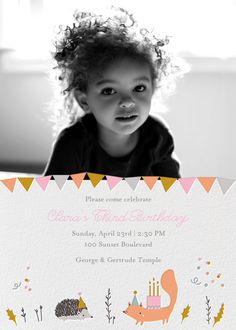 Forest Birthday Photo by Little Cube for Paperless Post. Online invitations for kids' birthdays made with easy-to-use design tools and RSVP tracking. View other kids' party invitations on paperlesspost.com.