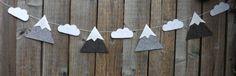 Guirlande de montagne montagne et nuage banderoles par FeltWitch