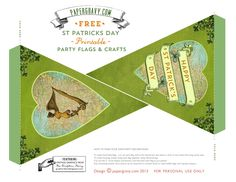 *The Graphics Fairy LLC*: Vintage Printables - St. Patrick's Day - Flags - Buntings - Stickers