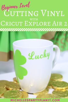 Excited to start cutting vinyl with the Cricut Explore Air 2 but not sure where to start? This is the perfect project for beginners, includes a step by step video for Cricut Design Space! #cricutmade #ad
