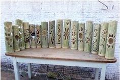 Oficinas ensinam a fazer luminárias e instrumentos musicais com bambu