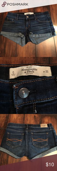 Juniors Size 0 shorts Abercrombie & Fitch Waist 25 Excellent condition. Like new! Abercrombie & Fitch Shorts Jean Shorts