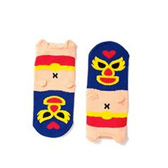 Hansel from Basel always makes the cutest socks, but these little luchador socks are even better than good!