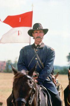 Picture: Sam Elliott in 'Gettysburg.' Pic is in a photo gallery for Sam Elliott featuring 14 pictures. Civil War Movies, Civil War Art, Sam Elliott, Gettysburg Movie, Gettysburg Ghosts, Westerns, Katharine Ross, Tom Selleck, Cinema