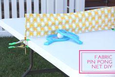 Fabric Ping Pong Net DIY