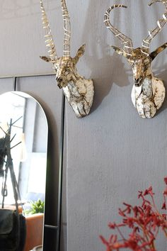 Add some character to your space with these handmade metal animal heads