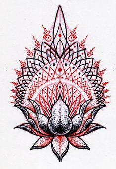 Krishna Lilly dotwork tattoo