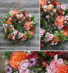 Amazing Flowers Wreath Tutorial, from Jay Archer Floral design. A featured on Pocketful of Dreams.