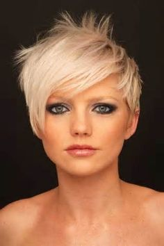 pixie haircut is also a super short blonde haircut which you can try ...