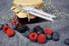 Waldbeeren-Marmelade aus Himbeeren, Brombeeren und Blaubeeren