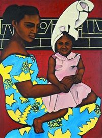 Mother and Child by Nanette Lelaulu
