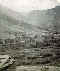 View of ~ Manitou Springs Colorado ~ 1872