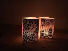 Created these zentangle lanterns to shine a warm light in winter. It's an amazing way to decorate your home with a handmade light. #zentangle #decoration #diy #handmade #illustration