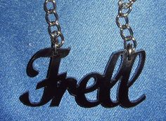 "Farscape Slang ""Frell"" Acrylic Necklace by LeFayEngraving at Etsy"