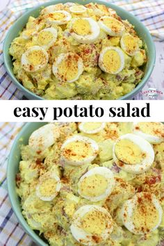 We love a good potato salad recipe and Robin's will be an easy side dish for a BBQ. She uses red potatoes which make the potato salad creamy but leaves the skins on to give the salad a hearty texture. #potatosalad #sidedish #summerrecipe #summerBBQ #summersidedish