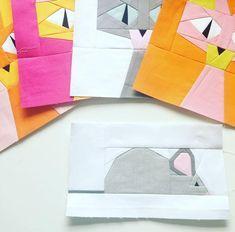 Free Quilt Pattern: Mr Sqeak Foundation Paper Piecing – I Sew Free Free Paper Piecing Patterns, Quilt Block Patterns, Quilt Blocks, Fabric Patterns, Sewing Patterns, Paper Peicing Patterns, Cat Quilt, Foundation Paper Piecing, English Paper Piecing
