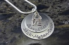 So sweet. This would make a great gift as well! GroopDealz | Personalized Hand Stamped Mothers Necklace