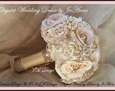 Ramo de oro rosa Custom rosa ramo de broche por Elegantweddingdecor