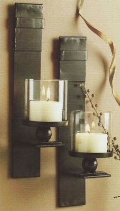 Candle sconces - wish I knew where to find these?!