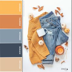 6 Autumn Color Schemes for Social Media - Direct Sales and Home Based Business Entrepreneurs Member Article By Michele M Bradley Color Schemes Colour Palettes, Colour Pallette, Color Trends, Color Combos, Color Combinations For Clothes, Color Swatches, Fashion Colours, Mode Outfits, Color Theory