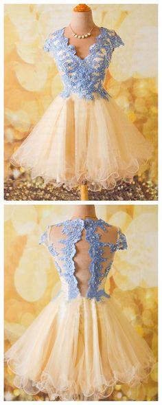 homecoming dress, short homecoming dress, lace homecoming dress, cheap…