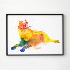Canine print. Fox decor. Wildlife art. Printed on high quality art paper.  SIZES:  8.3 x 11.7 (A4) 11.7 x 16.5 (A3)  This print comes without