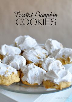 Delicious Frosted Pumpkin Cookies - perfect treat for fall!