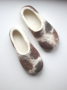 Slippers for women felted slippers wool by FeltStudioINWOOL