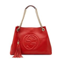 cf5238b6945 Get one of the hottest styles of the season! The Gucci Soho Medium  Chain-strap Tote Orange Leather Shoulder Bag is a top 10 member favorite on  Tradesy.