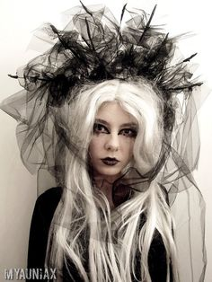 MTO Goth Hair Accessory gothic lolita shironuri doll by Myauniax, $22.00